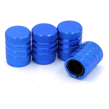 Universal Aluminum car truck motorcycle tyre tire valve stem dust cover caps with plastic core