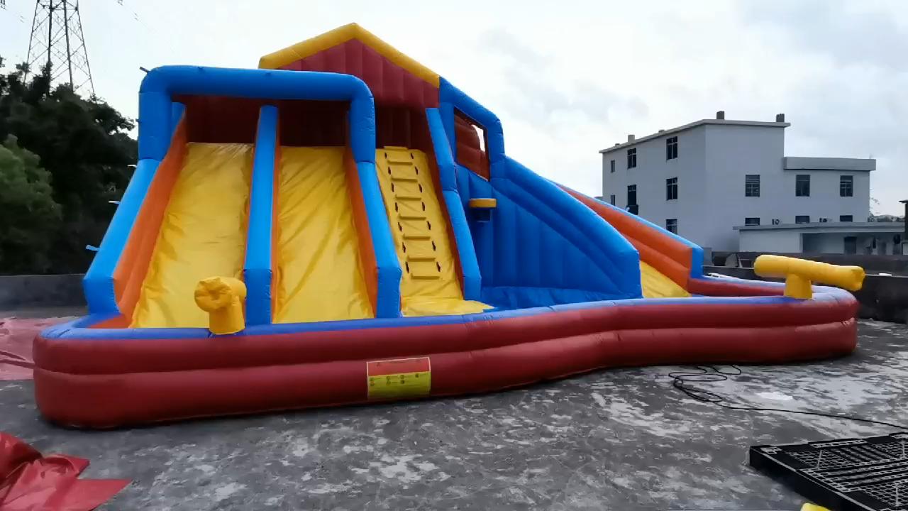 저렴한 풍선 물 슬라이드 풍선 물 파도 슬라이드 뒷마당 홈 어린이