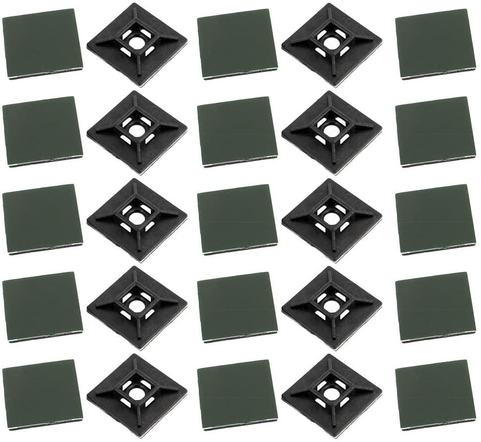NLZD cable tie mounts 25*25 natural color cable tie base 500pcs