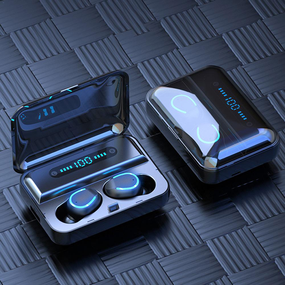 Gvoice F9-5U 1200Mah HIFI Sound Quality LED Digital Power Display Touch control Bluetooths 5.0 Wireless Earbuds - idealBuds Earphone | idealBuds.net