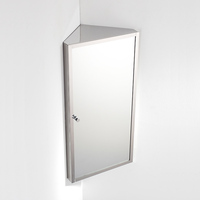 Wall mounted stainless steel triangle bathroom corner mirror cabinet make in china 7041
