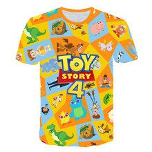 Новинка 2020 года; Детская футболка с героями мультфильма «История игрушек 4»; Детская футболка для девочек; Базз Лайтер/Вуди; Летняя одежда(Китай)