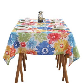 Custom SIZE Printed 100% Cotton tablecloths / table cloth