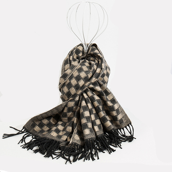 200CM*70CM Size Classic women scarves tartan plaid checked tassel thick imitated wool winter scarf