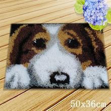 Мультфильм собака ковер кошка защелка крюк вышивка для ручной работы защелка крюк ковер подушка с пуговицей животные фоамиран для рукодели...(Китай)