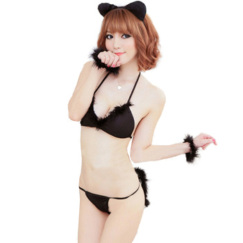 sexy lingerie cat woman cosplay costume
