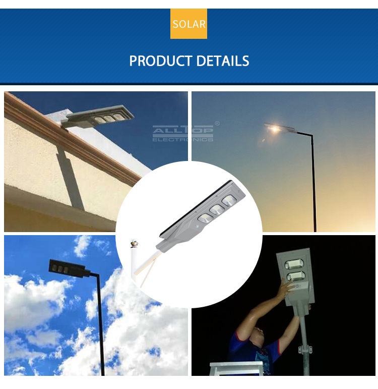 ALLTOP Factory Custom high quality dimmable intelligent 30w 60w 90w 120w 150w all in one solar led streetlight prices