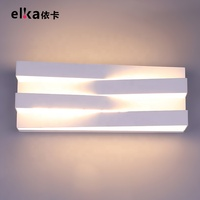 Newest product gold hallway iron crystal hotel bathroom led wall light