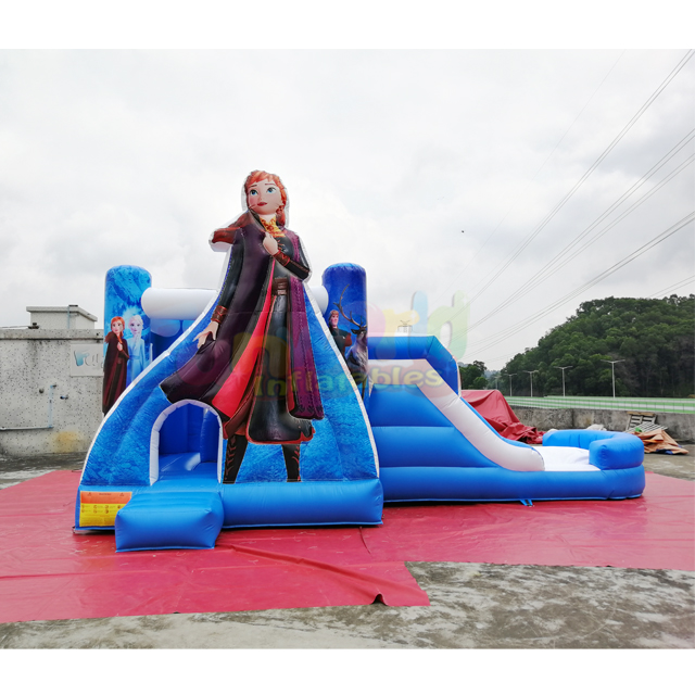 Customized 5 in 1 bouncing castle jumping inflatable frozen bounce house commercial kids