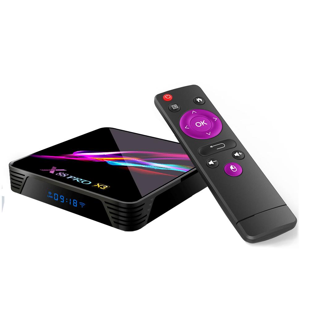 x88 pro x3 4k HD S905X3 Quad-Core TV Receiver Android 9.0 Smart TV Box x88 pro x3