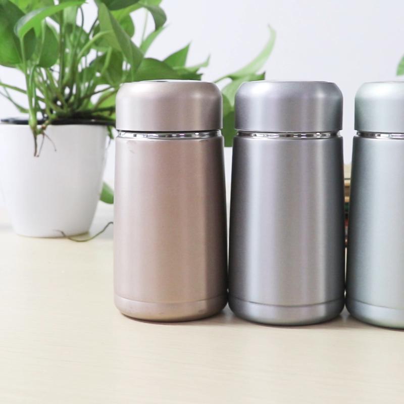 350 ミリリットルミニかわいい水ボトルステンレス鋼ダブル暖かい真空カップ