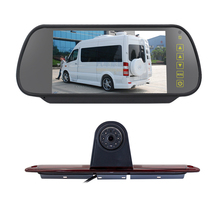 7 Inch Achteruitkijkspiegel Auto Remlicht Backup Camera Voor Mercedes Sprinter Led Light Parking Reverse Cam