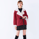 Korean Style Short lapel fashion lacing wool fur coat slim winter wool coat women Teddy coat