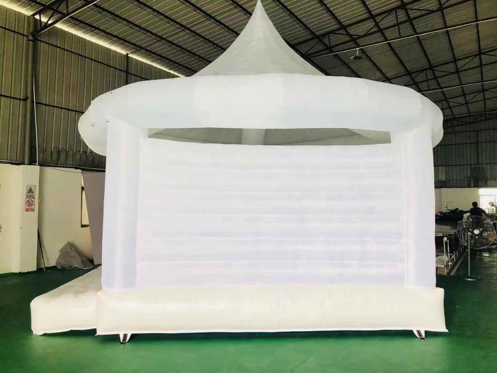 white bouncy castle for wedding/white jumping castle/white bouncy castle