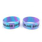 Non-Fading Bar Party Souvenirs Customized Silicone Wristbands With Logo
