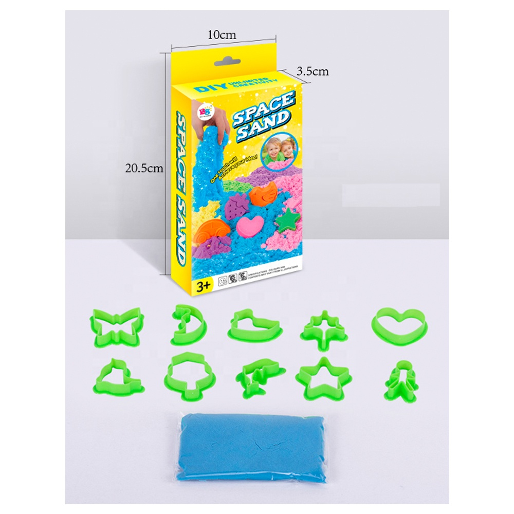 2019 educational kids Dynamic colorful Soft toys game play diy mold  sand suit