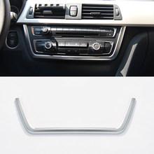 Автомобильный Центр консоль мультимедиа рамка отделка ABS хром для BMW 3 4 серии 3 серии GT F30 F36 316 318 320 2013-2019 автомобильные аксессуары(Китай)