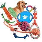 Custom 10 11 12 13 14 pack sets pet dog chew toy , dog rope toy set