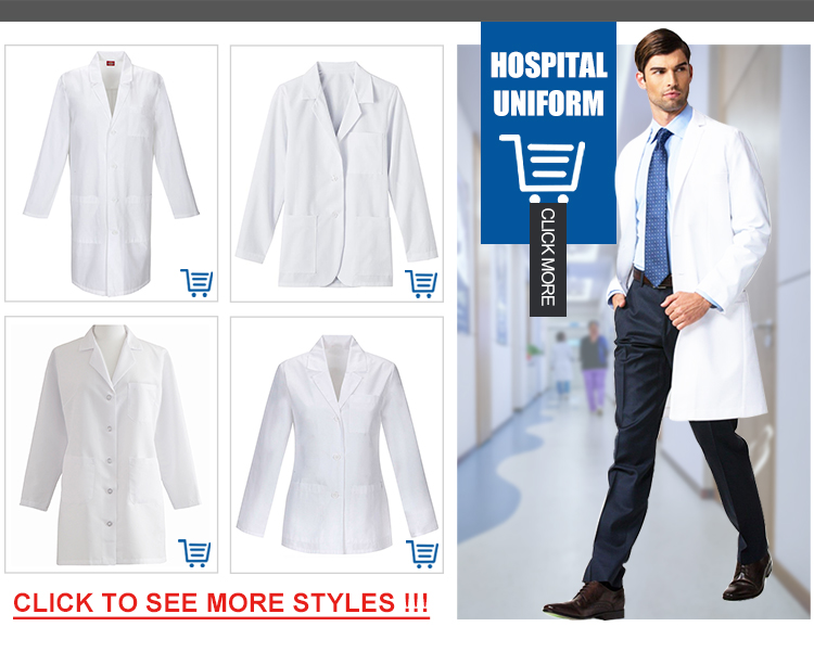 Stylish High Quality Man Lab Coat scrubs