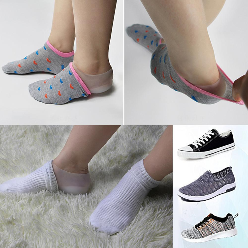 1 Pair Invisible Silicone Increase Insoles Massage Soft Feet Cushion Heightening Pad