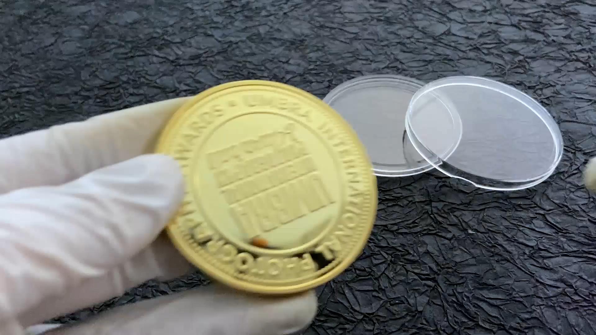 Natioanl photography awards custom 24k oro migliore qualità in lega di zinco moneta su ordinazione