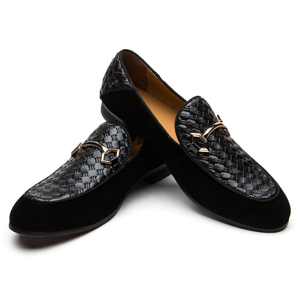 Mode Casual Slipper Echtes Leder Schwarz Slip-on Männer Müßiggänger Schuhe
