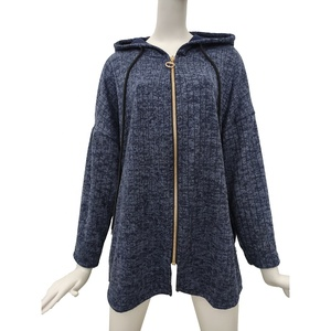 Wholesale Italian Knitted Long Cardigan Sweater Coat For Women