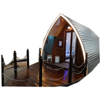 ZY Wooden cabin with light steel and anti corrosive paint hull wooden cabin design wooden cottage