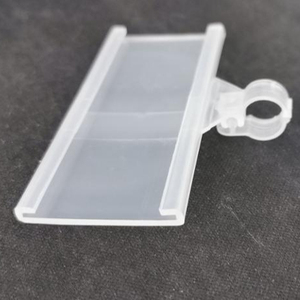 PVC hanging plastic price tag label holder for wire shelf Display Price PVC Plastic Shelf Label Holder Hanging Plastic Label