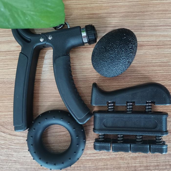 Großhandel Fünf Sets Bunte Hände Greifer Handgelenk-stärkungsmittel-ball Einstellbare Hand Grip für Finger Exerciser Erholen