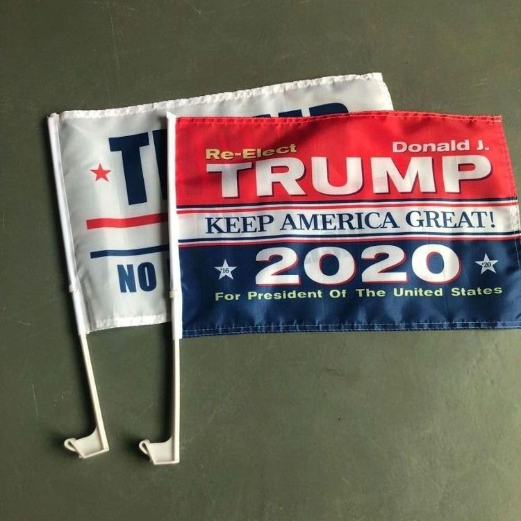Custom Double side printing Trump 2020 car <strong>flag</strong> Joe Biden Car <strong>flag</strong>