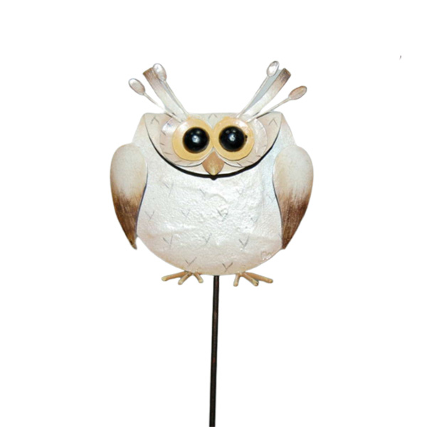 Estátuas Animal Jardim Ornamentos Metal Outdoor Owl Decor
