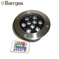 9W Outdoor Garden IP67 Waterproof LED Inground Light / Underground Recessed Light