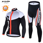 Mens Thermal Fleece Long Cycling Jersey Set Winter Ropa Roupa De Ciclismo Invierno MTB Bicycle Clothing Bike Clothes Wear
