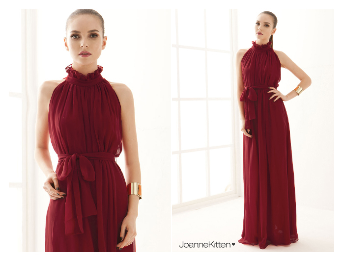 Lady Fashion European Woman Deep V Neck Long New Evening Gown Elegant Dress