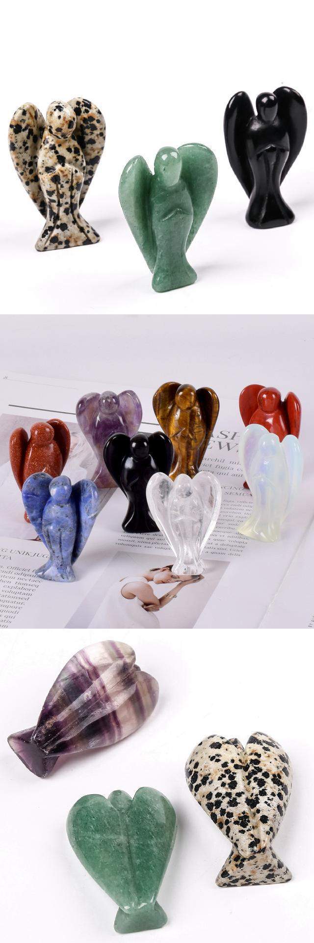Crystals stones Angels 3' Beautiful Gemstone Angel For Love and Marriage Crafts Stock Metaphysical And New Age Gemstone Products