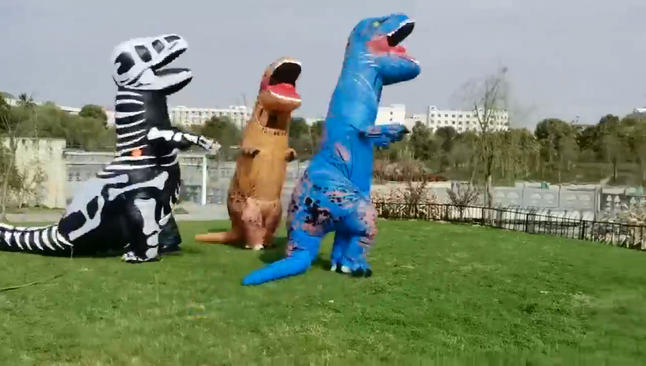 ชุดคอสเพลย์เป่าลมสำหรับเทศกาลไดโนเสาร์,ของเล่นเป่าลมสำหรับขี่สัตว์ชุดเครื่องแต่งกายเป่าลมวันฮาโลวีนปี2020