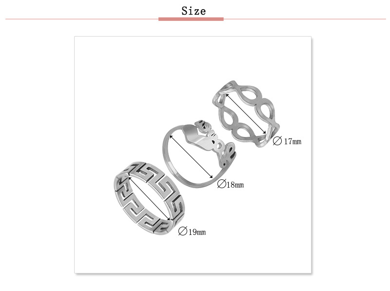 YFS012 Trade Assurance 2020 New Design Fashion Stainless Steel Peach Heart Love Letter Ring Gold Plated 3 Pcs Couple Ring Set