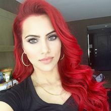 Бразильские красные волнистые кружевные передние человеческие волосы, парики, Омбре, красные человеческие волосы 13*4, кружевной передний па...(Китай)