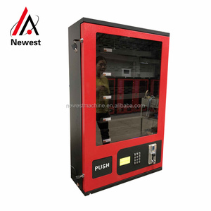 24 hours small cigarette vending machine/mini snack dispensing/beer vendor with coin