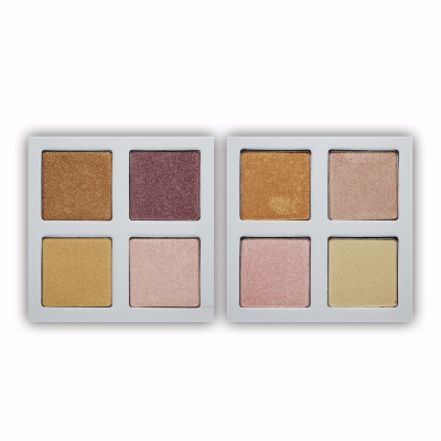 Best sale organic shimmer cosmetics private label highlighter makeup palette