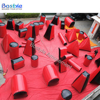 Inflatable Paintball field cylinder paintball bunker