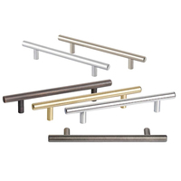 New hardware cheap stainless Steel decorative bedroom kitchen furniture italian modern T bar door cabinet drawer pull handle