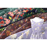 wholesale silk chiffon floral printed fabric