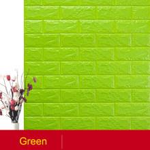 Самоклеящаяся Водонепроницаемая ТВ фон кирпичные обои 3D настенная наклейка для гостиной обои для спальни декоративные 70*77(Китай)