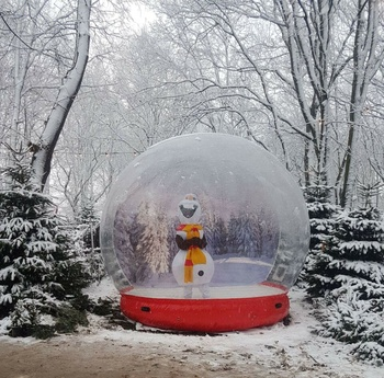Popular life Size Snow Globe Clear Inflatable Dome For Live Show,Inflatable Snow Globe Tent