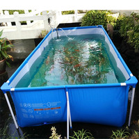 2000L PVC Collapsible Fish Pool Fish Breeding Tank