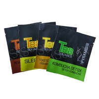Custom Multi-color Compostable Retail Tea Packaging Metallic Laminated Foil Heat Seal Empty Tea Sachet Bags