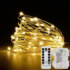 Christmas Lights Led Light Christmas String Led Light Waterproof Round Christmas Tree Decorative Night Battery Powered Lights Sales Holiday Outdoor Copper Wire LED Light String