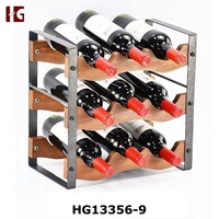 Iron wood wave wine rack
